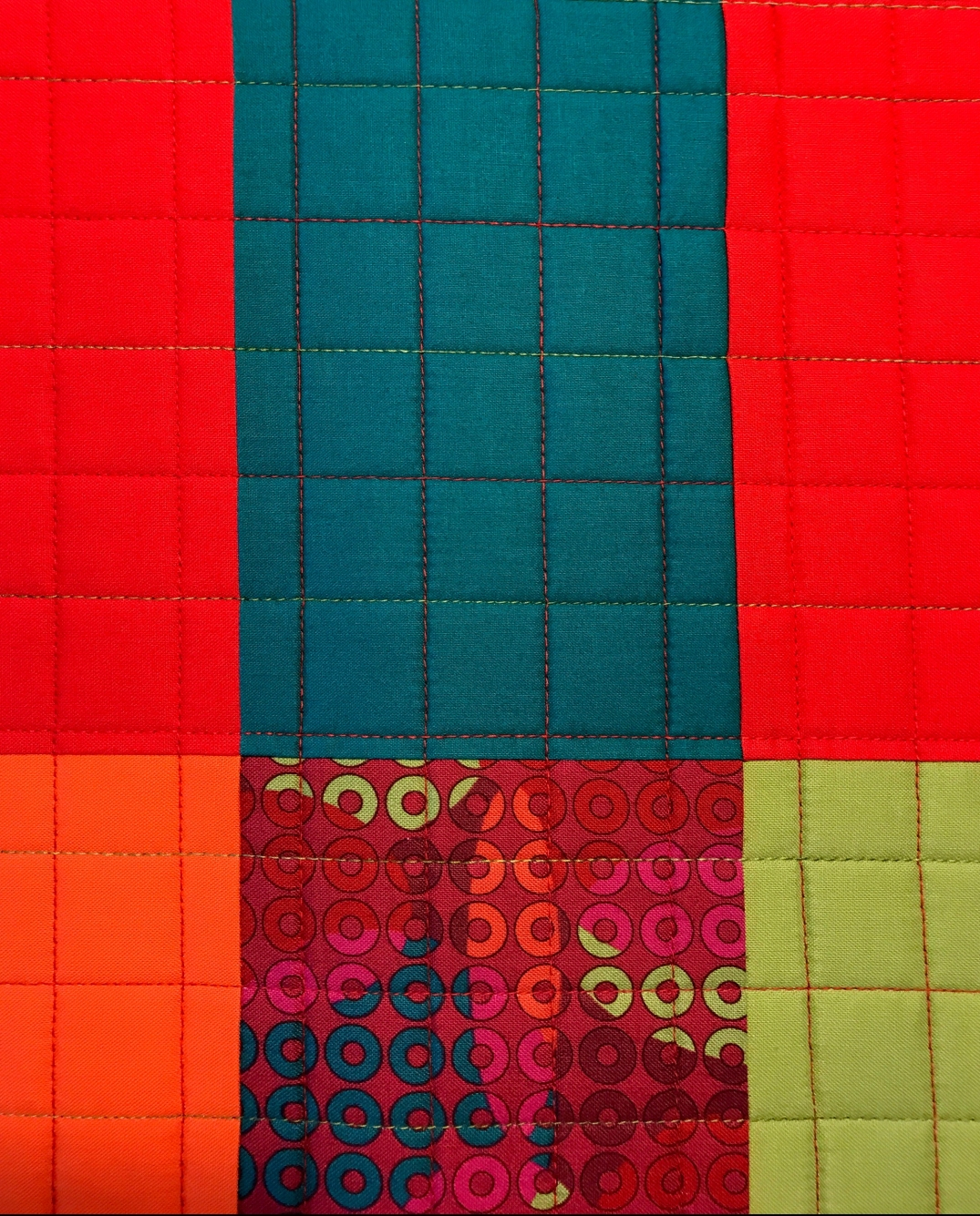 Squares with thread color change